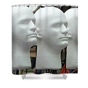 Four Heads Are Better Than One Shower Curtain
