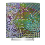 Four Hearts Intertwined Shower Curtain