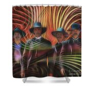 Four Horsemen - Square Version Shower Curtain