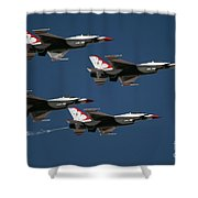 Four In Flight Shower Curtain