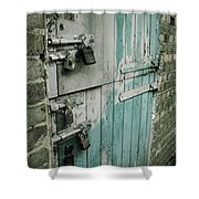 Four Latches Shower Curtain