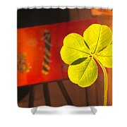 Four Leaf Clover In Studio 1 Shower Curtain