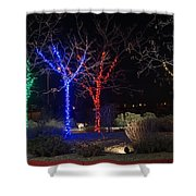 Four Lighted Trees Shower Curtain