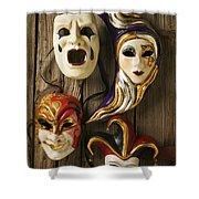 Four Masks Shower Curtain