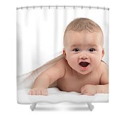 Four Month Old Baby Boy Shower Curtain