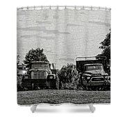 Four Old Friends Shower Curtain