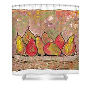 Four Pair Of Pears Shower Curtain