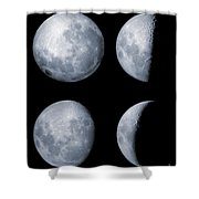 Four Phases Of The Moon Shower Curtain by Rolf Geissinger