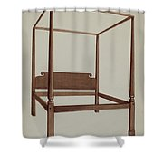 Four Post Bed Shower Curtain