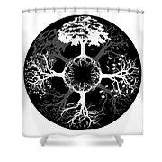 Four Seasons Of Tree Shower Curtain