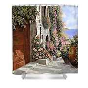 four seasons- spring in Tuscany Shower Curtain