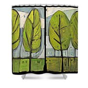 Four Seasons Tree Series Shower Curtain