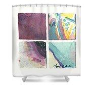 Four Squares Pastelisa Shower Curtain