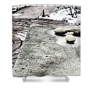 Four Stones Shower Curtain