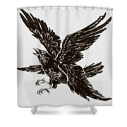 Four Wings Shower Curtain