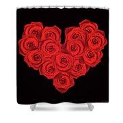 Fourteen Roses Shower Curtain by Wim Lanclus