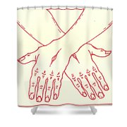 Fourteenth Station- Jesus Is Laid In The Sepulcher  Shower Curtain