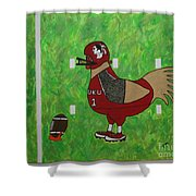 Fourth And Goal Shower Curtain