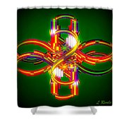 Fourth Dimension Shower Curtain