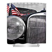 Fourth Of July-chevvy  Shower Curtain