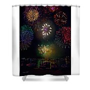 Fourth Of July Fireworks Shower Curtain