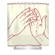 Fourth Station- Jesus Meets His Mother Shower Curtain