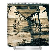 Fowlers Bay Jetty Shower Curtain