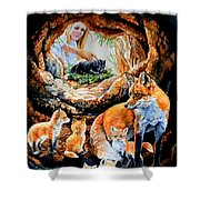 Fox Family Addition Shower Curtain