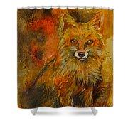 Fox Fire Shower Curtain