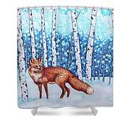 Fox Forest Shower Curtain