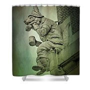 Fox Grotesque Shower Curtain