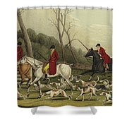 Fox Hunting Going Into Cover Shower Curtain