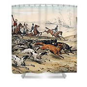 Fox Hunting Shower Curtain