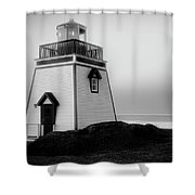 Fox Point Lighthouse Shower Curtain