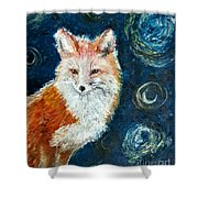 Fox Red  Painting  Shower Curtain