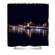 Fox River Green Bay At Night Shower Curtain