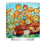 Fox Says Come And Sit With Me Shower Curtain