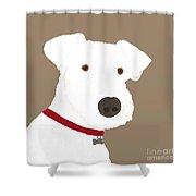 Fox Terrier Shower Curtain