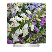 Foxglove Fancy Shower Curtain