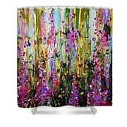 Foxgloves Panel Two Shower Curtain