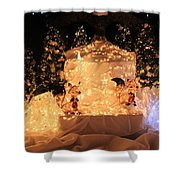 Foxy Christmas Decoration Shower Curtain