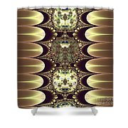 Fractal 42 Cameos In Gold And Ivory Shower Curtain