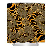Fractal Abstract Shower Curtain
