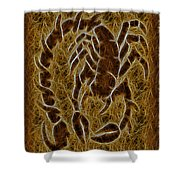 Fractal Abstract Scorpion Shower Curtain