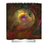 Fractal Abstraction Shower Curtain
