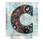 Fractal - Alphabet - C Is For Complexity Shower Curtain