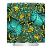 Fractal Art - Gifts From The Sea By H H Photography Of Florida Shower Curtain