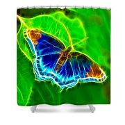 Fractal Butterfly Shower Curtain