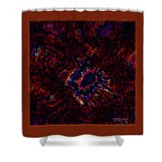 Fractal Centrifuge Shower Curtain