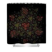 Fractal Christmasbouquet  Shower Curtain